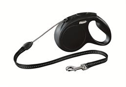 Flexi - Рулетка-трос для собак, размер M - 5 м до 20 кг (черная) New Classic cord black
