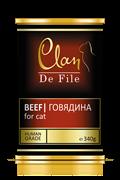 Clan De File -Консервы для кошек (говядина) № 80
