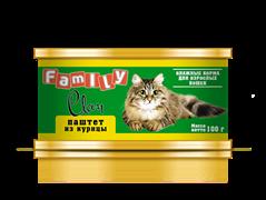 Clan  Family - Консервы для кошек (паштет из курицы) №22