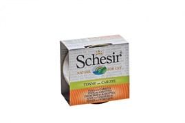 Schesir - Консервы для кошек (тунец с морковью в бульоне)