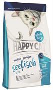 Happy Cat - Сухой беззерновой корм для кошек с чувствительным пищеварением (с морской рыбой) Adult Sensitive