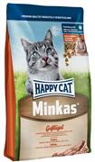 Happy Cat - Сухой корм для взрослых кошек (с птицей) Minkas