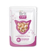 Brit - Паучи для кошек (с морским лещом) Care White Fish Pouch