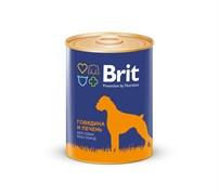Brit - Консервы для собак (с говядиной и печенью) Premium RED MEAT&LIVER