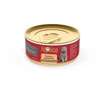 """Molina - Консервы для кошек """"Тунец с креветками в желе"""""""