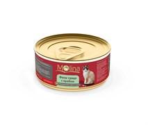 """Molina - Консервы для кошек """"Филе тунца с крабом в соусе"""""""