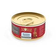 """Molina - Консервы для собак """"Цыпленок с печенью в соусе"""""""