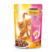 Purina Friskies - Влажный корм для котят (с курицей в подливе)