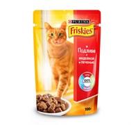 Purina Friskies - Влажный корм для кошек (с индейкой и печенью в подливе)