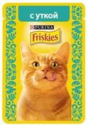 Purina Friskies - Влажный корм для кошек (с уткой в подливе)