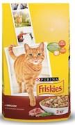 Purina Friskies - Сухой корм для взрослых кошек (с мясом и овощами)