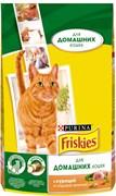Purina Friskies - Сухой корм для домашних кошек (с курицей и зеленью)