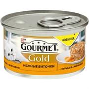 Purina Gourmet - Влажный корм для кошек (Нежные биточки с курицей и морковью) Gold