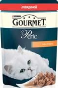 Purina Gourmet - Влажный корм для кошек (с говядиной) Perle