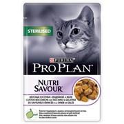 Purina Pro Plan - Влажный корм для взрослых стерилизованных кошек и кастрированных котов (с индейкой)