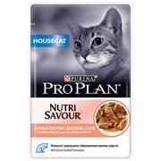 Purina Pro Plan - Влажный корм для кошек, живущих дома (с лососем)