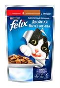 """Purina Felix - Влажный корм для кошек """"Двойная вкуснятина"""" (с говядиной и домашней птицей в желе)"""
