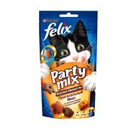 Purina Felix - Лакомство для кошек (с курицей, печенью и индейкой) Party Mix