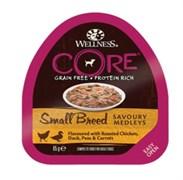 Wellness Core - Консервы для собак мелких пород (попурри из курицы, утки с горошком и морковью)