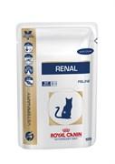 Royal Canin (вет. диета) - Паучи для кошек при почечной недостаточности (с курицей) RENAL