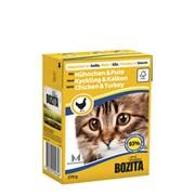 BOZITA - Консервы для кошек (кусочки в соусе с курицей и индейкой) Feline Chicken &Turkeu Tetra Pak