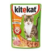 Kitekat - Паучи для кошек (с индейкой в соусе)