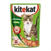 Kitekat - Паучи для кошек (с кроликом в желе)