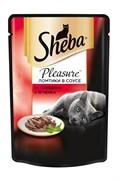 Sheba - Паучи для кошек (с говядиной и ягненком) Pleasure