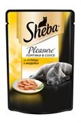 Sheba - Паучи для кошек (с курицей и индейкой) Pleasure
