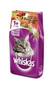 Whiskas - Сухой корм для кошек (подушечки с паштетом из говядины и кролика со сметаной и овощами)