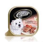 Cesar - Консервы для собак (Нежное патэ с говядиной и овощами)