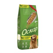 Оскар - Сухой корм для взрослых собак средних пород (с мясом ягненка и рисом)