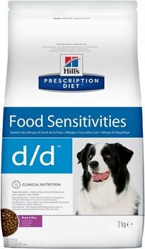 Hill's (вет. диета) - Сухой корм для собак лечение пищевых аллергий (с уткой и рисом) D/D - фото 10038
