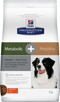 Hill's (вет. диета) - Сухой корм для собак для коррекции веса + суставы Metabolic+Mobility - фото 10118