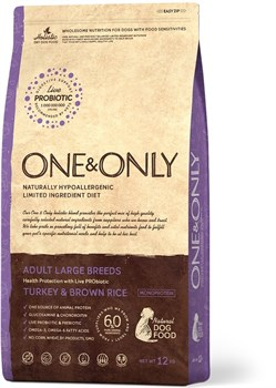 One&Only – Сухой корм для собак крупных пород (индейка с бурым рисом) Turkey&Rice Large Breeds - фото 10176