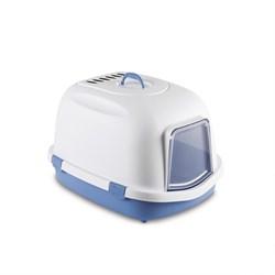 Stefanplast - Туалет закрытый Super Queen, с угольным фильтром, голубой, 71x55x46,5 - фото 10281