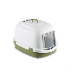 Stefanplast - Туалет закрытый Super Queen, с угольным фильтром, зеленый, 71x55x46,5 - фото 10282