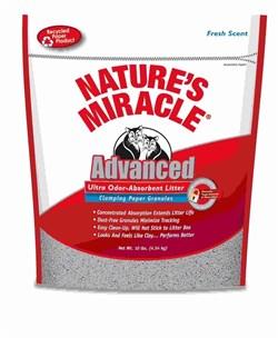 8in1 - Наполнитель комкующийся бумажный для кошачьего туалета (натуральный аромат) Nature's Miracle Odor Control Paper Cat Litter - фото 10339