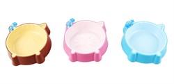 Dezzie - Миска для кошек, 150 мл 15,5*13,3*3,2 см, пластик (цвет в ассортименте) - фото 10408