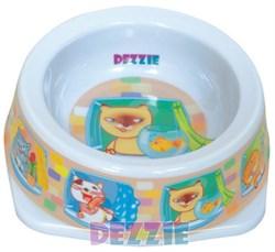 Dezzie - Миска для кошек, 150 мл, 12,5*12,5*4,5 см, пластик - фото 10411
