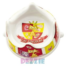 Dezzie - Миска для кошек, 300 мл, 16*16*7,5 см, пластик - фото 10418
