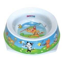 Dezzie - Миска для кошек, 300 мл, 16,5*16,5*5 см, пластик - фото 10419