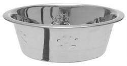 "Dezzie - Миска для собак ""Лапа"", 1892 мл 21*7 см, металл - фото 10424"