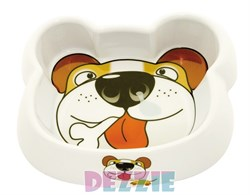 Dezzie - Миска для собак, 300 мл, 16,5*14*4 см, пластик - фото 10431
