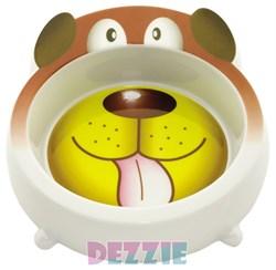 Dezzie - Миска для собак, 450 мл, 18*18*5,5 см, пластик - фото 10433