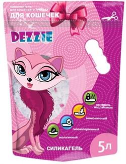 """Dezzie - Наполнитель для кошачьих туалетов силикагель """"Для кошечек"""" (без запаха) 5л - фото 10445"""