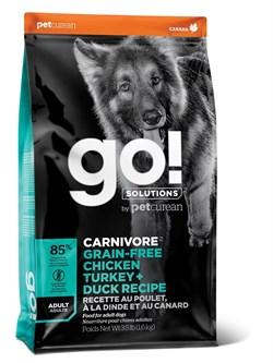 GO! Natural Holistic - Беззерновой для взрослых собак всех пород (4 вида мяса: индейка, курица, лосось, утка) CARNIVORE GF Chicken,Turkey + Duck Adult Recipe DF - фото 10448