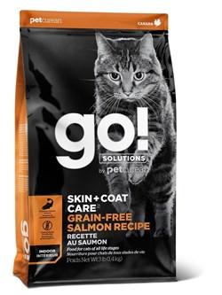 GO! Natural Holistic - Беззерновой для котят и кошек (с лососем) SKIN + COAT Grain Free Salmon Recipe CF - фото 10451