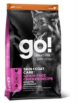 GO! Natural Holistic - Беззерновой для собак всех возрастов (с цельной курицей) SKIN + COAT Grain Free Chicken Recipe DF - фото 10456