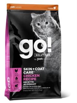 GO! Natural Holistic - для котят и кошек (с цельной курицей, фруктами и овощами) SKIN + COAT Chicken Recipe for Cats - фото 10458